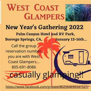 West Coast Glampers South After New Years Rally