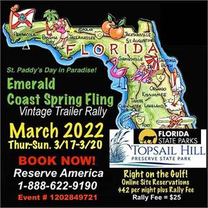 First Annual Emerald Coast Spring Fling Vintage Trailer Ralley
